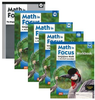 Math in Focus Grade 4 Homeschool Package (with Answer Key)  -