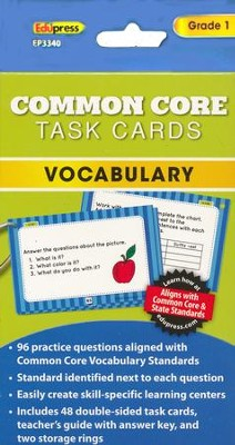 Common Core Vocabulary Cards, Grade 1  -