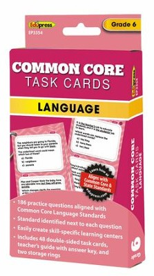 Common Core Language Task Cards, Grade 6  -