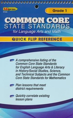 Quick Flip Common Core State Standards, Grade 1  -