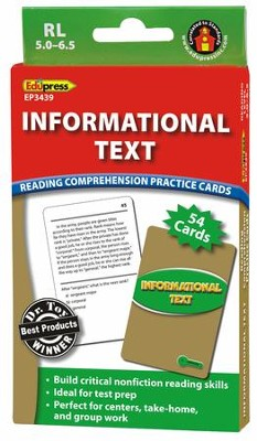 Informational Text Practice Cards, Green Level  -