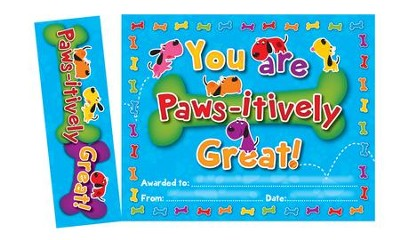 Paws-itively Great! , Bookmark Awards (Pack of 30)  -