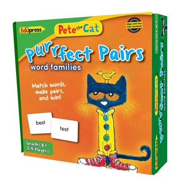 Pete the Cat® Purrfect Pairs Game, Word Families  -
