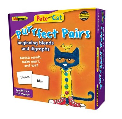 Pete the Cat Purrfect Pairs Game, Beginning Blends & Digraphs  -
