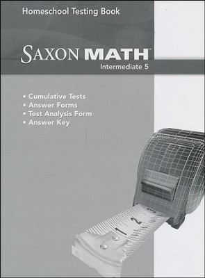Saxon Math Intermediate 5 Homeschool Testing Book   -