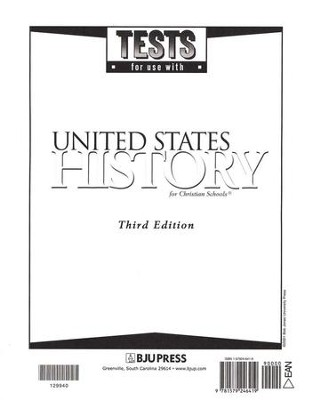 BJU Heritage Studies 11: United States History, Tests  (Third Edition)  -
