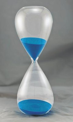 Hourglass Sand Timer (60 min), Blue  -