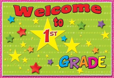 Welcome to 1st Grade Postcard, Pack of 30  -