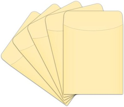 Peel & Stick Book Pockets: Manila, Pack of 375  -