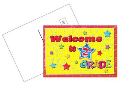 Welcome to 2nd Grade Postcard, Pack of 30  -