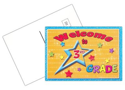 Welcome to 3rd Grade Postcard, Pack of 30  -