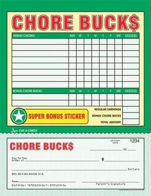 Chore Bucks, Pack of 26  -