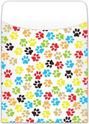 Book Pockets: Paw Prints, Pack of 35  -