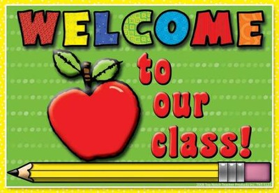 Welcome to Our Class Apple Postcard, Pack of 30  -