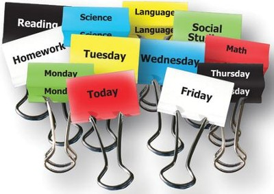 Teacher Clips - Classes & Days of Week (12 Clips, 1 1/4 inches)  -
