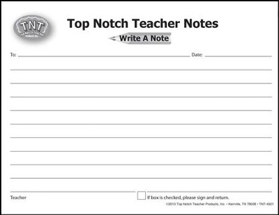 Top Notch Teacher Notes: Write A Note, Pack of 50  -