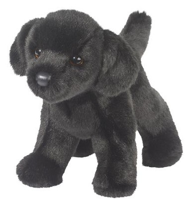 Bear Black Lab, Plush Dog  -