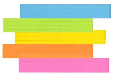 Sentence Strips - Brite Assorted Pack of 100  -