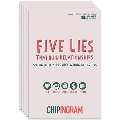 Five Lies That Ruin Relationships Study Guide - pack of 5   -     By: Chip Ingram