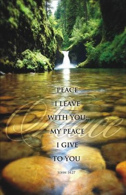 Rocky Stream Peace I Leave with You (John 14:27) Bulletins, 100   -