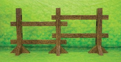 Mighty Fortress VBS: Split Rail Fence Post Set, 86 x 40   -