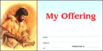 Christ the Carpenter Offering Envelopes, Pack of 100  -