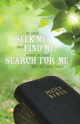 Seek Me Find Me Search for Me, Pack of 100 Bulletins  -