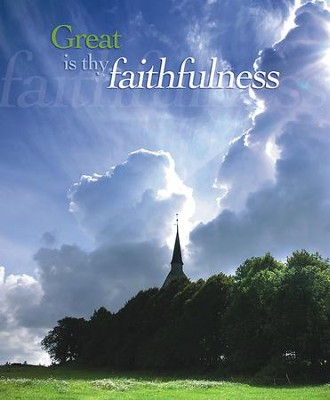 Great Is Thy Faithfulness, Pack of 100 Large Bulletins  -