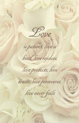 Love Is Patient Love Is Kind, Pack of 100 Bulletins  -
