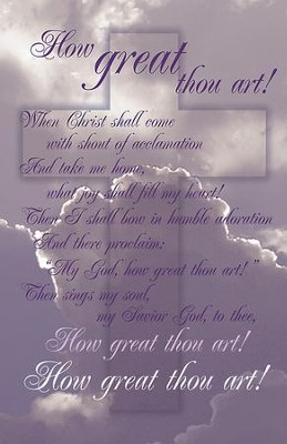 How Great Thou Art, Pack of 50 Bulletins  -