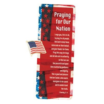 Praying for Our Nation Lapel Pin and Card  -