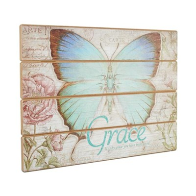 Grace, Butterfly Plaque  -