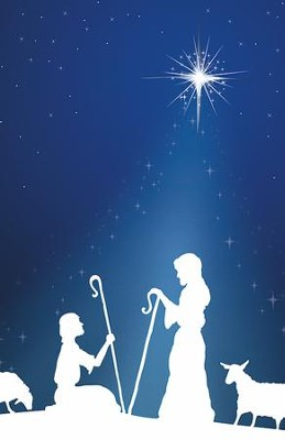 Silhouette Advent 1 Shepherds, Pack of 100 Bulletins  -