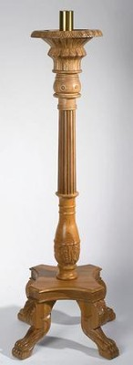 Canterbury Carved Wood Paschal Candlestick, 47 inches high x  17 inches wide (2 inch socket)   -