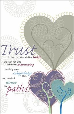 Trust in the Lord, Pack of 100 Bulletins  -