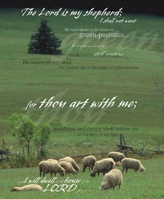 Psalm 23 Sheep and Pine Tree, Pack of 100 Large Bulletins  -