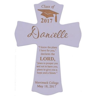 Personalized, Wall Cross, Graduation, Small, Purple   -