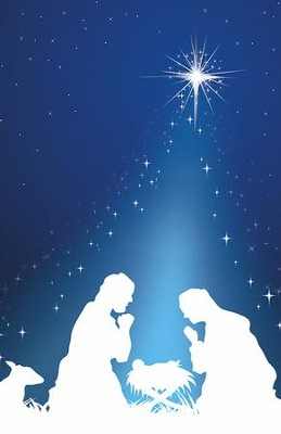 Silhouette Christmas Holy Family, Pack of 100 Bulletins  -