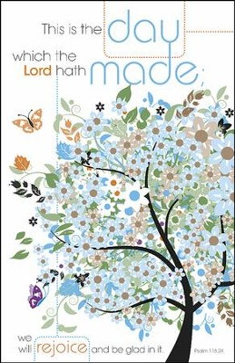 This Is the Day which the Lord Hath Made, Pack of 100 Bulletins  -