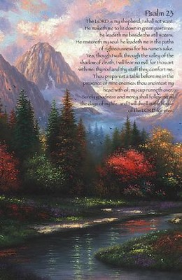 Psalm 23 Mountain Artwork, Pack of 50 Bulletins  -