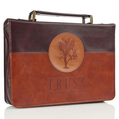 Trust, Tree Bible Cover, Brown, Medium  -