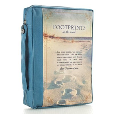 Footprints Bible Cover, Medium  -