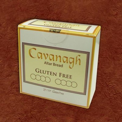 Gluten Free Communion Bread, Box of 25 1 Wafers    -