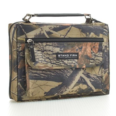 Stand Firm Bible Cover, Camo, Medium  -