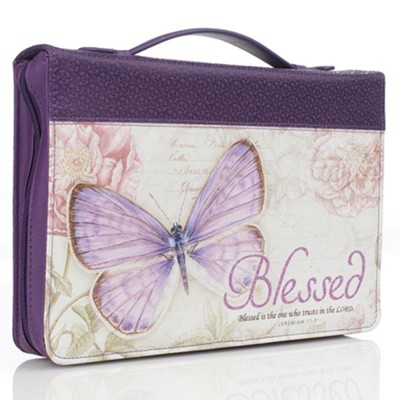 Blessed, Butterfly Bible Cover, Medium  -