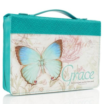 Grace, Butterfly Bible Cover, Large  -