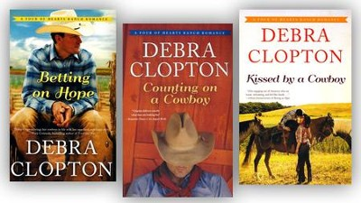 Four of Hearts Ranch Romance Series, Volumes 1-3  -     By: Debra Clopton