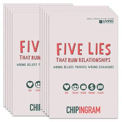 Five Lies That Ruin Relationships Study Guide - pack of 10   -