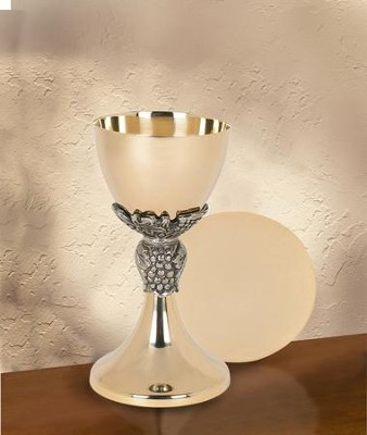 Grapes & Leaves Chalice with Paten Set  -
