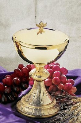 Dual Finish Ciborium with Loaf & Fish Top  -